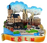 N / A Magnet Souvenir Köln 6 x 6,5 x 2 Kühlschrankmagnet Stadt Figur Deko E47
