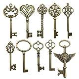Youdiyla 20 pcs Large Antique Bronze Steampunk Vintage Keys for DIY Wedding...