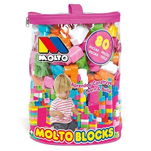 M MOLTO Bolsa Blocks Rosa 80 pcs