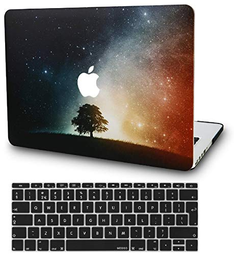 KECC Laptop Case for Old MacBook Pro 13' Retina (-2015) w/Keyboard Cover Plastic Hard Shell Case A1502/A1425 2 in 1 Bundle (Lonely Tree)