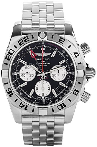 Breitling Chronomat 44 GMT 3rd Time Zone Automatic Chronograph Steel Mens Watch AB0420B9/BB56-375A