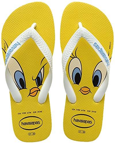 Sandalias amarillas Havaianas Looney Tunes