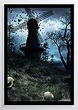 Gothic Art Windmühle Kunstdruck Poster -ungerahmt- Bild
