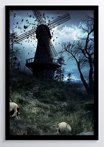 Gothic Art Windmühle Kunstdruck Poster -ungerahmt- Bild DIN A4 A3 K0628 Größe A4