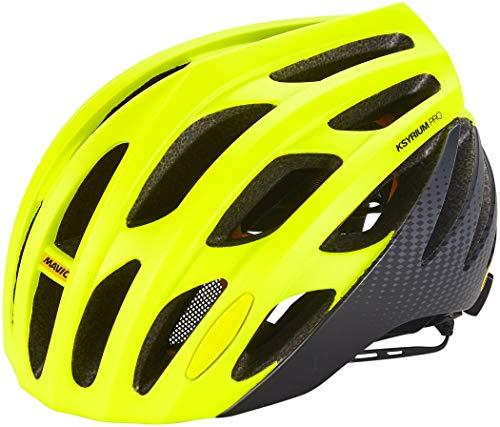 MAVIC Ksyrium Pro MIPS Rennrad Fahrrad Helm gelb/schwarz 2018: Größe: S (51-56cm)
