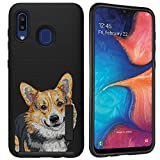 CasesOnDeck Shockproof Case Compatible with Samsung Galaxy A20 / Galaxy A30 [Grip Tactical] Bump and Drop Corner Protection Case w/Grip (Corgi)