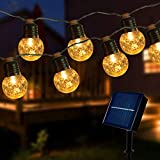 HeyMate Solar String Lights Waterproof with 20 Dimmable Warm White Balls Lights, Enhanced Solar Panel, Wireless Remote Control, for Garden/Yard/Home Party/Xmas Tree/Wedding/Indoor/Outdoor Decoration