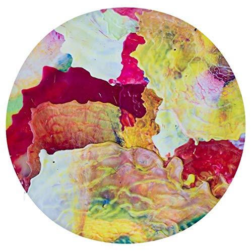 Cojín Cojín de Asiento de Espuma viscoelástica Redondo Textura de Pintura Colorida Cojín súper Acogedor Cojín Suave para Interior