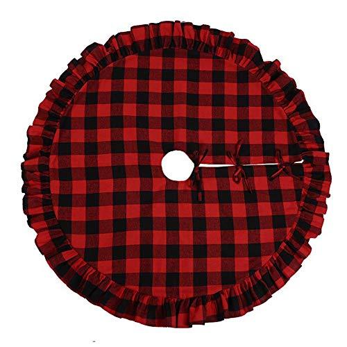TENER Falda del árbol de Navidad árbol de Vestir Negro Rojo clásico...