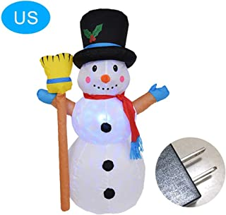 haptern Christmas Inflatable Snowman,1.2M Large Inflatable Snowman Christmas Decoration with Lights Christmas Snowman Mold for Garden Outdoor Indoor Decoration Pretty Well