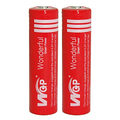 2pcs 3.7V 4200 mah WGP Button Top Rechargeable Battery for LED Flashlight Bike Bicycle Headlamp Electric Tools