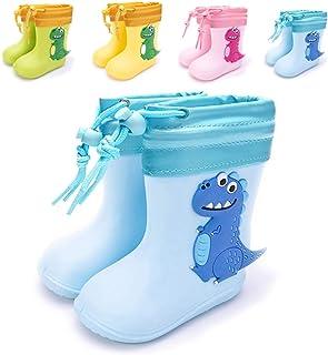 Botas de Agua Niña Niño Impermeable y Antideslizante Botas para Lluvia Azul cálido EU
