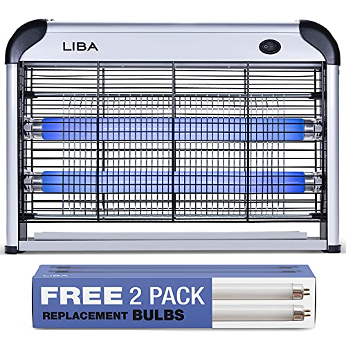 LiBa Zapper Electric Indoor House Zapper Powerful 2800V Grid - Two Extra Replacement Bulbs