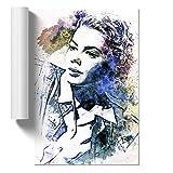 BIG Box Art Ingrid Bergman in Abstrakt Poster Wandkunst