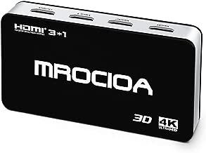 MROCIOA Hdmi Switch, Premium 3 Port High Speed 4K 3D Hdmi Switcher Box IR Wireless Remote, Supports PS4/ Xbox One/Fire TV/Apple TV/HDTV