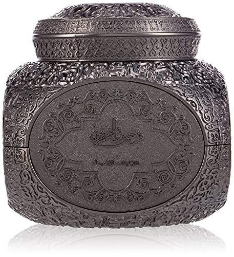 SWISSARABIAN Bakhoor Dukhoon Al Jazeera (70 gm) | Middle Eastern Incense Shavings | Ornamental Container and a Scooping Spoon, Housed in Luxury Hard-case Gift Set Box | by Artisan Swiss Arabian Oud