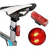 junmo shop Luz trasera de bicicleta eléctrica autogeneradora, luz trasera de bicicleta de inducción magnética para ciclismo nocturno