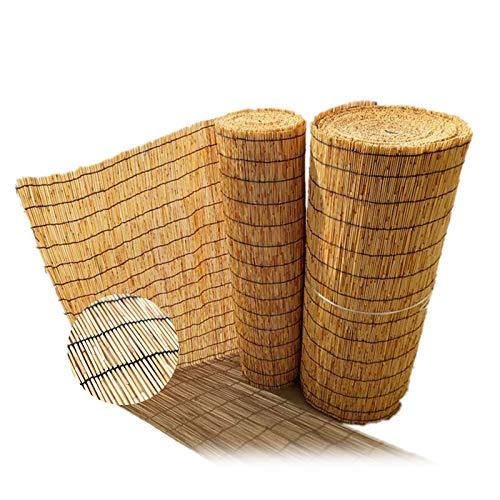 L-DREAM Persianas De Bambu Exterior - Estor Enrollable para Ventanas, Media Sombra, Respirable, para Porche Patio Jardín Balcón, Sala De Cama, Cortina Bambu Privacidad 150x175cm