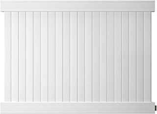 Outdoor Essentials Pro Series Hudson White Vinyl Privacy Fence Panel Kit, 6 ft. x 8 ft.