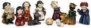 11 Piece Nativity Set - 5 1/4 Inches