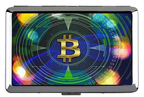 Zigarettenetui Inhaber, Dollar Bitcoin Papier Dollar Business Name Kartenhalter Brieftasche Kreditkarte Id Fall