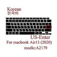 for for for MacBook Air 132020用キーボードカバーラップトップ保護フィルム13インチA2179シリコンキーボードカバーロシア語フランス語スペイン語韓国 -US-Korea