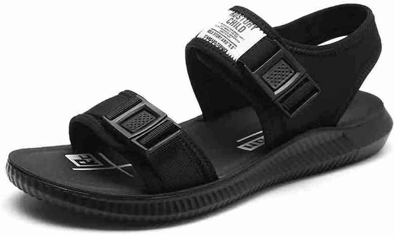 WYYY Schuhe Sandalen Herren Plain Fashion Bequeme Schuhe Casual Wild Beach Schuhe (Farbe   schwarz, Größe   EU 41 UK 7 CN 41)