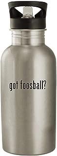 got foosball? - Stainless Steel 20oz Water Bottle, Silver