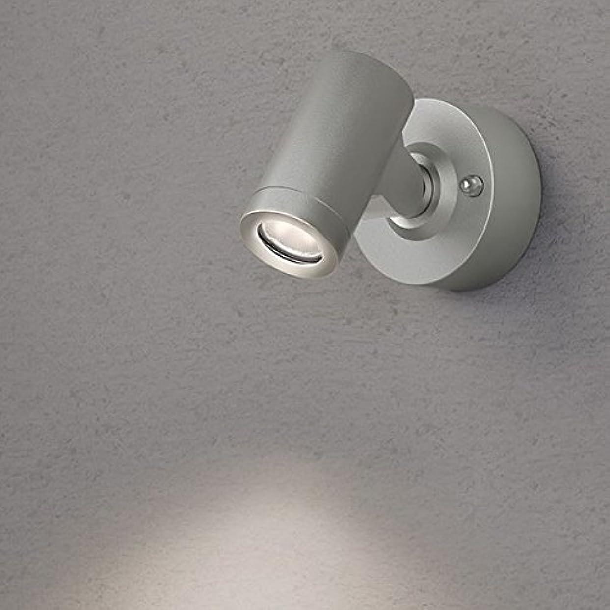 分割知覚ラベルタカショー ウォールライト(ローボルト) エクスレッズ スポットウォールライト1型 HBA-D06S #73023000 *LED交換不可 『エクステリア照明 ライト』 シルバー/LED色(電球色)