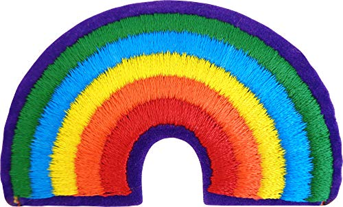 Rainbow Arch - Embroidered Iron On or Sew On Patch