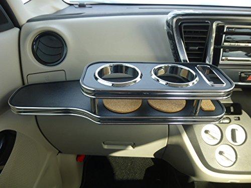 数量限定 デイズルークス フロントテーブル レザーブラック 携帯ホルダー助手席側 ブラックフルメッキ