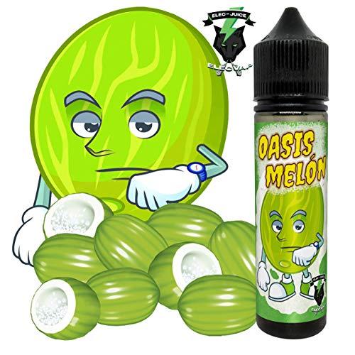 E-Liquid OASIS MELON de ElecVap - Sin Nicotina - 60ml formato TPD - 0MG Nicotina - E-Liquido para Cigarrillos Electronicos - E Liquidos para Vaper