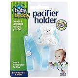 Buddy(ベビーバディ) Baby Buddy(ベビーバディ) Baby Buddy ベビー バディ Bear Pacifier Holder ホワイトベア マルチ クリップ(シングル) Light blue ライトブルー