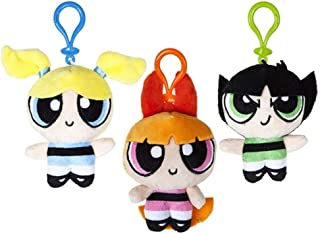 Official Powerpuff Girls Cute Plush Soft Toy 10cm Bag Clips Keyring Keychain