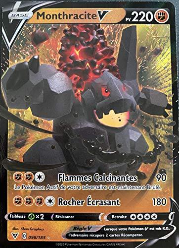 Mapa Pokemon Monthracite 098/185 V Ultra Rare espada y escudo 4 EB04 FR