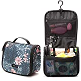 Jadyn B Toiletry Bag - Hanging Toiletry Bag and Travel Cosmetic Organizer for Women (Navy Floral)