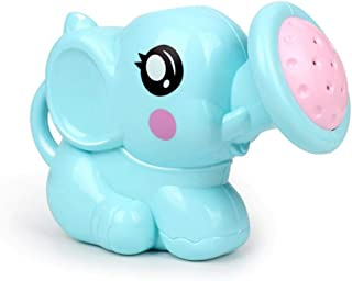 Niome Baby Shower Toy Plastic Watering Pot Kids Bath Toy Mini Handheld Sprinkler Elephant Shape for 0-3 Years Toddler Blue