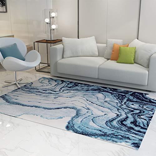 ZYTFC Teppich Schlafzimmer super weiche Mode modernen minimalistischen nordischen geometrischen Langen weichen Wollteppich,160x230cm