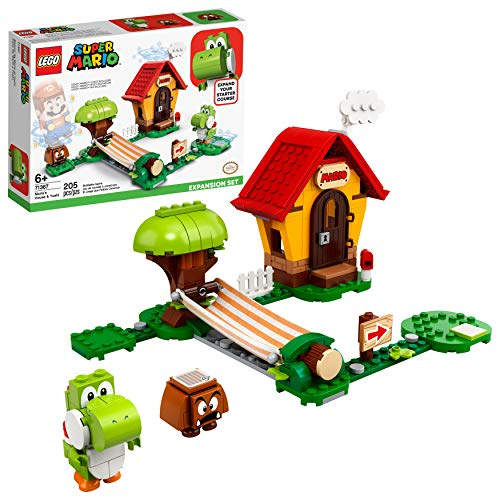 LEGO Super Mario Mario's House & Yoshi Expansion Set 71367 Building Kit, Collectible Toy to Combine with The Super Mario Adventures with Mario Starter Course (71360) Set, New 2021 (205 Pieces)