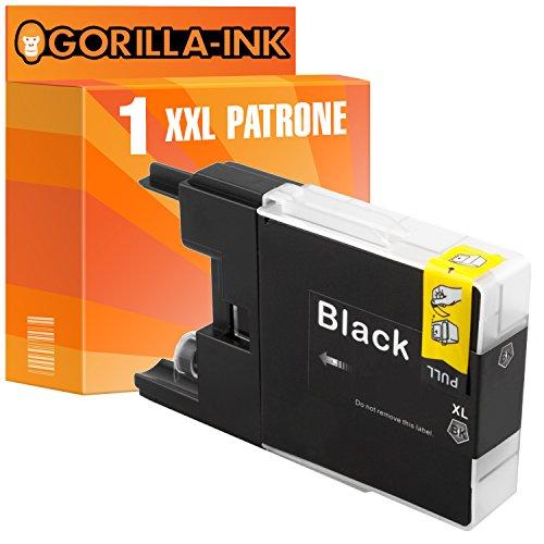Gorilla-Ink 1 cartucho de tinta XXL compatible con Brother LC-1240 | Adecuado para Brother DCP-J 525W 725DW 925DW MFC-J 430 Series 430W 5910DW 625DW 6510DW 6710DW 6910DW | Negro