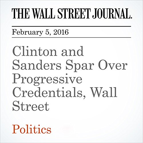 Clinton and Sanders Spar Over Progressive Credentials, Wall Street audiobook cover art