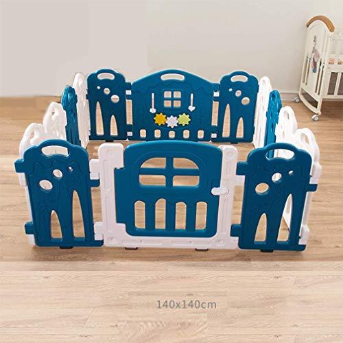 Baby Fence Indoor Safety Creeping Step Fence Kids Jeu Foldable Matériel en Plastique Portable Portable