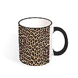 Tazza bicolore marrone stampa leopardo, 311,8 g, nero/bianco