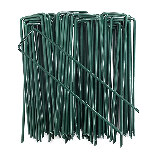 AGAKY 50 Grapas para Jardín, Césped Artificial, Estacas de Fijación para Mallas, Clavo Metal Galvanizado