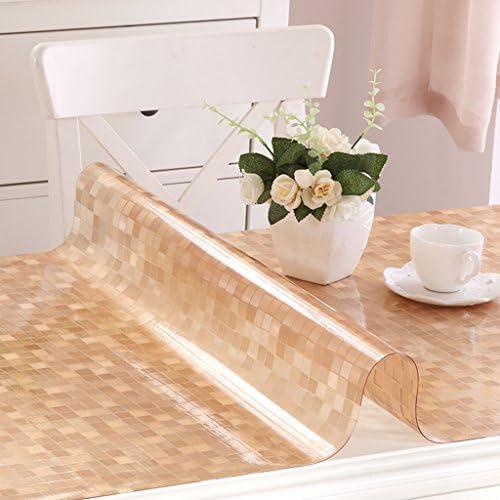 Küchenwäsche PVC Tischdecke, Weißhe Glas Tischmatten Wasserdichte Kristallplatte Kaffeetisch Tuch Tischdecke 1.2MM ( Farbe   E , Größe   100150CM )