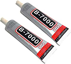 50ml B-7000 Glue Adhesive, Multi-purposed Glues Paste Adhesive Applicable to Glass, Wood, Jewelry, Manicure-2 Packs