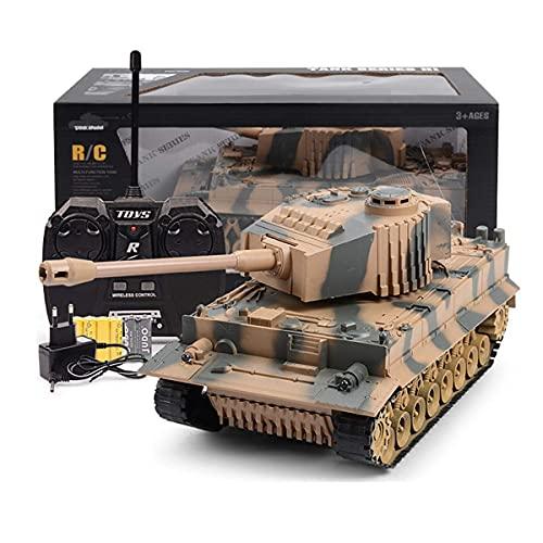 J-Clock Tanque RC, Juguetes Control Remoto, Tanque Batalla RC Airsoft Panzer Modelo a Escala 1/24 2.4Ghz Control Remoto Vehículo Militar Lucha Combate