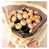 [ビズフラワー]【花束バラ ベビーロマンチカ30本】かわいい 丸い薔薇 お祝い 誕生日 記念日 大切な日 感謝 プレゼント
