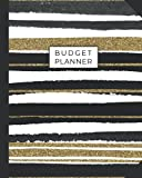Budget Planner: Weekly and Monthly Financial Organizer   Savings - Bills - Debt Trackers   Modern Gold White Stripes (January-December 2020)