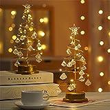 YOLEABY クリスマスデコレーションライト 寝室の居間の卓上のためのクリスマスツリーの常夜灯の電池式の装飾の妖精ランプ オプション